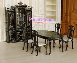 Dollhouse Furniture Kitchen Royal Dollhouse Furniture Kitchen Hutch Cabinet Dining Table Chair