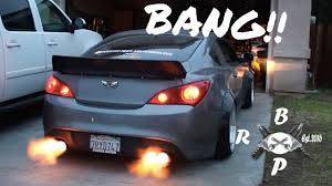 bisimoto genesis coupe flame throwing genesis coupe youtube
