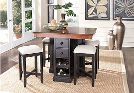 bar height dining room sets height dining room table the coventry lane black 5 pc bar height
