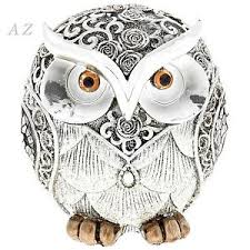 silver owl ornaments animals birds figures home decor