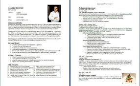 Sample Sous Chef Resume by Sample Chef Resume Sous Chef Resume Examples Resume Example And
