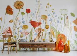 Watercolor Wallpaper For Walls by Bringing Your Walls To Life With Anewall Murals U0026 Wallpaper Ivy