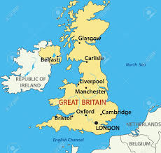 vector illustration map of the united kingdom of great britain