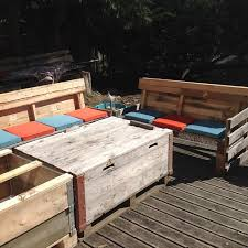 Diy Wood Pallet Outdoor Furniture by Pallet Sofa And Coffee Table Set For Patio