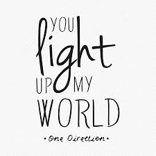 you light up my world two wall sticker by wall art you light up my world two wall sticker