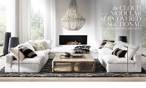 restoration hardware cloud sofa love this configuration living
