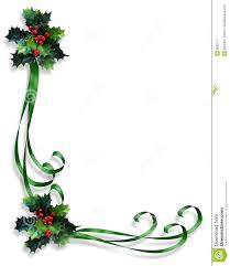 Invitation Card Border Design Christmas Border Holly And Ribbons Royalty Free Stock Photography