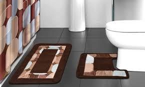 Bathroom Shower Curtain Set Bath Boutique 15 Set Groupon Goods
