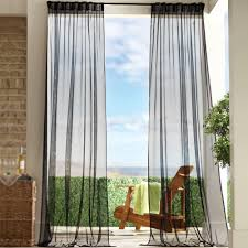 Black Outdoor Curtains Home Decorators Collection Semi Opaque Black Outdoor Back Tab