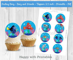 nemo cake toppers finding dory cupcake toppers dory cupcake toppers finding