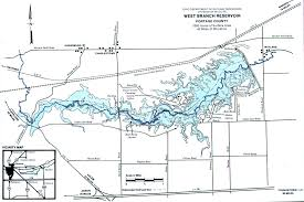 Map Of Northwest Ohio by West Branch Reservoir Fishing Map Northeast Ohio Go Fish Ohio