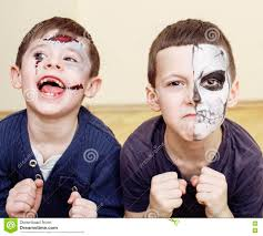 Halloween Face Paint Ideas Skeleton by Zombie Apocalypse Kids Concept Halloween Party Celebration