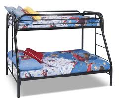 monarch twin full bunk bed u2013 black the brick