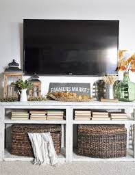 cozy fall mantel decor without a mantel cherished bliss