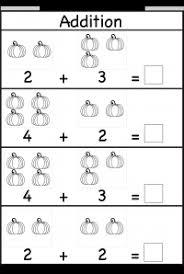 pumpkin picture addition u2013 kindergarten addition worksheet free