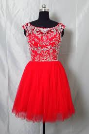 6 grade graduation dresses high neck rhinestones tulle homecoming dress gown