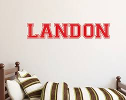 Sports Decals For Kids Rooms by Kids Name Wall Decal Etsy