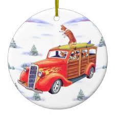 santa in rod ornaments keepsake ornaments zazzle