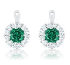 simple ear rings pallas emerald simple drop earrings 2 8ct cubic zirconia
