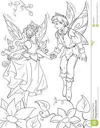 thumbelina s fairytale happy ending stock illustration image