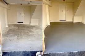 epoxy basement floor before and after epoxy garage floor with