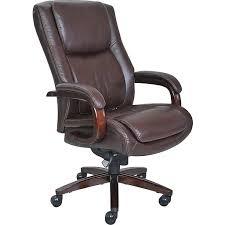 brown leather executive desk chair la z boy winston leather executive office chair fixed arms brown