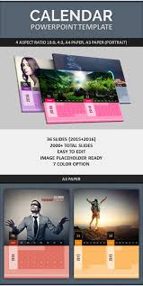 powerpoint calendar template 2015 2016 by pptx graphicriver