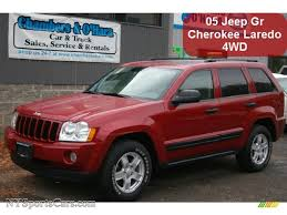 jeep laredo 2005 jeep grand cherokee laredo 4x4 in inferno red crystal pearl