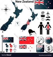 New Zealand Map New Zealand Map Royalty Free Vector Image Vectorstock