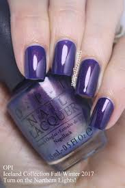 opi turn on the northern lights grape fizz nails opi iceland collection fall winter 2017