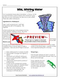 wild whirling water super teacher worksheets
