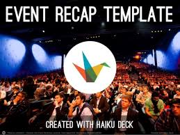 event recap template event recap template