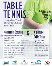 10 rules of table tennis table tennis coaching clinic officials training town of fort smith