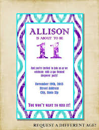 11th birthday invitation wording 11th birthday party invitations