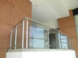 china interior modern balcony railing design glass patio railing