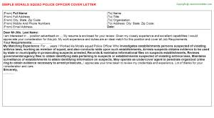 campus police officer cover letters