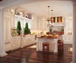 white kitchen light wood floor