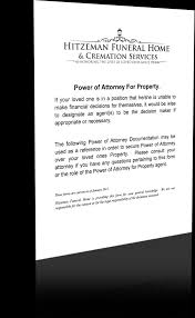 Form For General Power Of Attorney by Power Of Attorney Forms Hitzeman Funeral Home U0026 Cremation