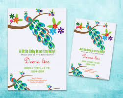 peacock baby shower peacock baby shower invitation template pdf