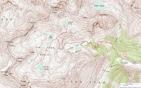 topographic map of lake basin san juan mountains colorado