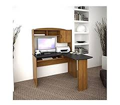 amazon com corner l shaped office desk with hutch black and