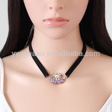 Custom Necklace Name Korea Crystal Pendant Name Artificial Necklace Machine Sets And