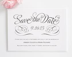 Date Invitation Card Charming Script Save The Date Cards Save The Date Cards By Shine