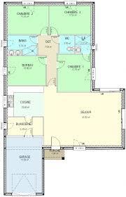 surface habitable minimum d une chambre plan maison plein pied 3 chambres house plans