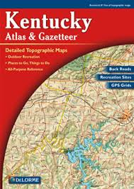 kentucky backroads map kentucky delorme atlas road maps topography and more
