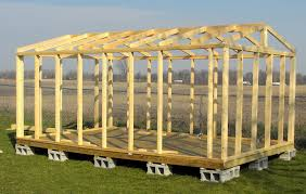 Plans To Build A Wooden Storage Shed by 16x20 Shed Plans All Wall And Roof Framing Is From Solid Wood
