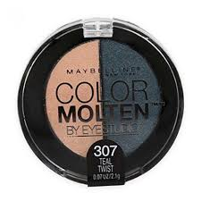 maybelline eye studio color molten eye shadow teal twist 307