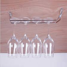 stemware holder chrome plated wine rack glass cup kitchen wall bar