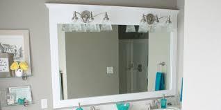 Bathroom Mirror Molding Remodelaholic Framing A Large Bathroom Mirror