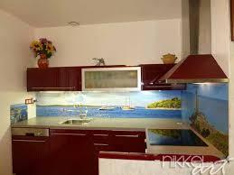 credence cuisine sur mesure crédence de cuisine en verre imprimé sur mesure